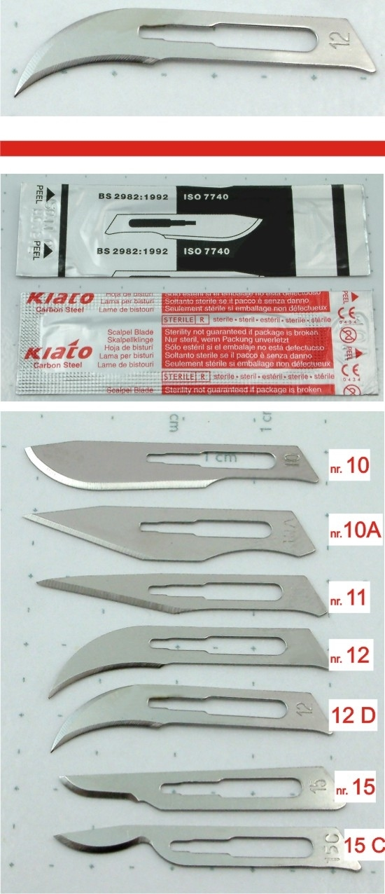 Scalpel blade for handle nr. 3 - ref.12D