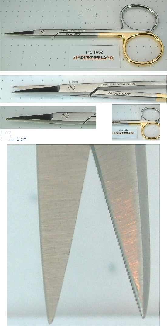 Fine Scissors - sharp/sharp `Super-Cut` - 11.5 cm